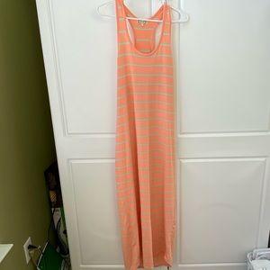 Razor back maxi dress